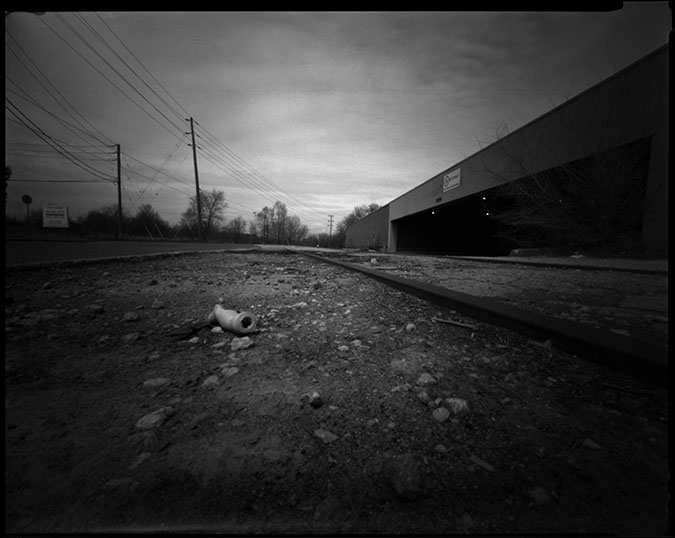 More Vault : 8x10 pinhole near Leaside. Yup, that's a doll arm there. No idea where the rest went.